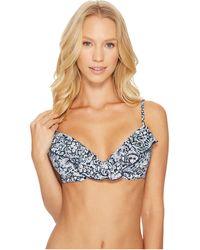 Polo Ralph Lauren - Seaside Floral Ruffle Underwire Bralette Bikini Top - Lyst