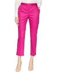 Ellen Tracy - Slim Leg Trousers W/ Side Slits - Lyst
