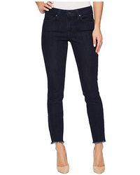 Mavi Jeans - Adriana Mid-rise Super Skinny Ankle In Rinse Tribeca (dark Blue) Jeans - Lyst