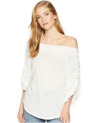 bfc8891f0b117 Lyst - Free People Off-the-shoulder Tunic in Black