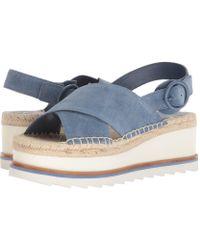 bc6afc984c62 Marc Fisher - Women s Glenna Suede Slingback Espadrille Platform Sandals -  Lyst
