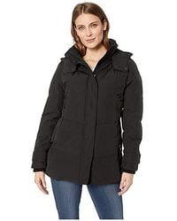 1f39e1e5400 Vince Camuto Short Down With Removable Hood And Knit Collar R1811 (black)  Coat