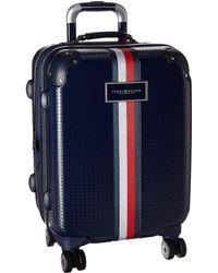 "Tommy Hilfiger - Basketweave 21"" Upright Suitcase - Lyst"