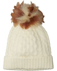 Polo Ralph Lauren | Feather Pom Cashmere Blend Hat | Lyst