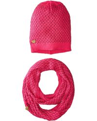 Betsey Johnson | Net Worth Two-piece Set Infinity Beanie | Lyst