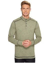 ECŌTHS - Caleb Henley Shirt (agave Green) Long Sleeve Pullover - Lyst