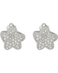 Nina - Starfish Pave Clip Swarovski Earrings - Lyst