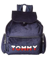 Tommy Hilfiger - Nylon Flap Backpack (tommy Navy) Backpack Bags - Lyst