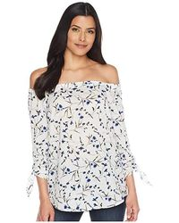 75eb312a11c901 Cece - Off The Shoulder Graceful Floral Blouse (ultra White) Blouse - Lyst