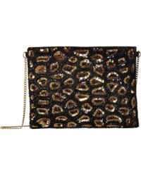 San Diego Hat Company - Bsb3548 Sequin Animal Print Clutch With Gold Chain Strap - Lyst