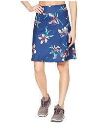 8d1c1037b BCBGMAXAZRIA Floral Knit Skirt (gardenia Combo) Skirt in Blue - Lyst