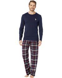 U.S. POLO ASSN. - Long Sleeve Tee & Luxe Fleece Pants Gift Set - Lyst