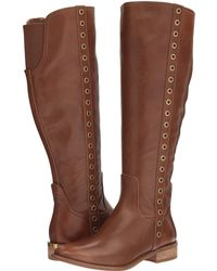 d4b9a0554a2 Lyst - Michael Michael Kors Arley Riding Boot Wide Calf Knee High ...
