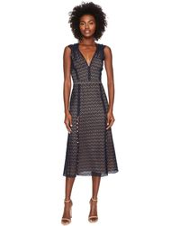 8548a611214 Prabal Gurung - Lace Cotton Eyelet Sleeveless Dress - Lyst