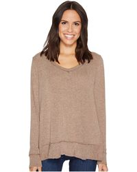 Mod-o-doc - Luxe Sweater Knit Forward Seam Long Sleeve Sweater - Lyst