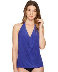 c39b1d85170 Lyst - Magicsuit Sophie Dd-cup Bra Sized Underwire Cowl-neck Tankini ...