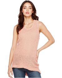 Two By Vince Camuto - Novelty Textured Stitch Sweater Tank Top - Lyst