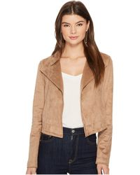 1.STATE - Cropped Suede Jacket - Lyst