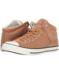 Converse - Chuck Taylor All Star Street Hi - Tumbled Leather - Lyst