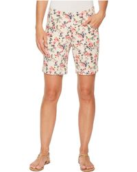 """Jag Jeans - Ainsley Pull-on 8"""" Floral Print Twill Shorts - Lyst"""