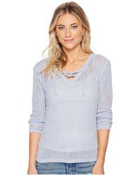 BB Dakota - Lily Lace-up Sweater - Lyst