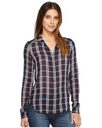 PAIGE - Kiernan Shirt (dark Ink Blue/baked Apple) Clothing - Lyst