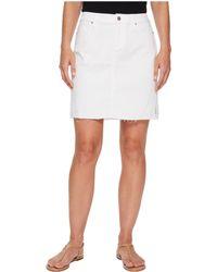 Liverpool Jeans Company - Slit Hem Skirt In Comfort Stretch Denim In Bright White - Lyst