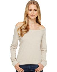 Three Dots - Off Shoulder Sweatshirt - Lyst