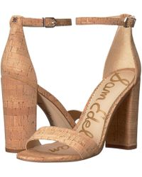 Sam Edelman - Yaro Ankle Strap Sandal Heel - Lyst