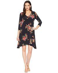 Karen Kane - 3/4 Sleeve Hailey Dress (print) Dress - Lyst
