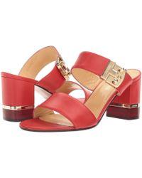 A.Testoni - Nappa Leather Buckle Strap Heel - Lyst