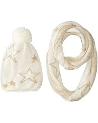 Betsey Johnson | Star Struck Two-piece Set Infinity Beanie | Lyst