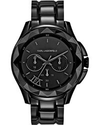 Karl Lagerfeld Karl 7 Black Chronograph Watch black - Lyst