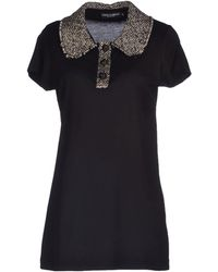 Dolce & Gabbana Black Polo Shirt - Lyst
