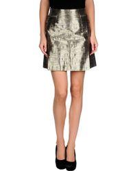 McQ by Alexander McQueen Silver Mini Skirt - Lyst