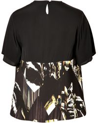 Kenzo Crepe Mountains Top - Lyst