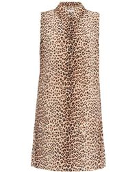 Equipment Lucida Leopard-Print Silk Dress - Lyst