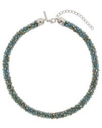 Topshop Faceted Bead Collar - Lyst