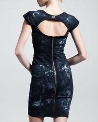 Kelly Wearstler Spirula Batik Cutoutback Dress - Lyst