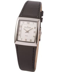 Skagen - 523xsslbc Ladies Leather Watch - Lyst