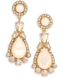 Kate Spade Butter Up Mother-Of-Pearl Statement Drop Earrings gold - Lyst