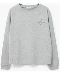 Mango | Cotton-blend Message Sweatshirt | Lyst