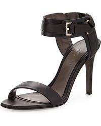 Jason Wu Leather Ankle-Cuff Sandal - Lyst