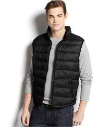 Calvin Klein Packable Puffer Vest black - Lyst