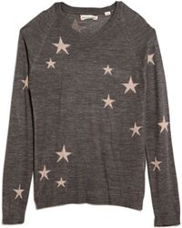 Chinti & Parker Cashmere/ Silk Star Sweater gray - Lyst