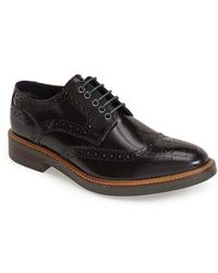 Base London Men'S 'Woburn' Leather Wingtip - Lyst