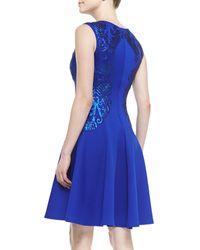 Tadashi Shoji Sleeveless Sequinedappliqué Cocktail Dress - Lyst