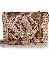 Marchesa - Daphne Python Envelope Shoulder Bag - Lyst