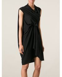 Rick Owens Draped Asymmetric Dress - Lyst