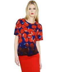 Sonia by Sonia Rykiel Oversized Apple Printed Cotton T-Shirt - Lyst